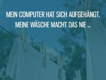 Meine Wäsche hängt sich nie auf
