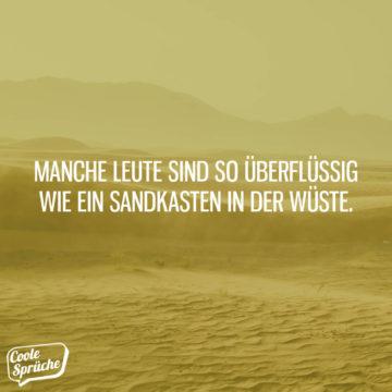 Sandkasten in der Wüste