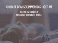 Beim Sex immer das Licht an