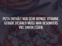 Pizza enthält nur sehr wenige Vitamine