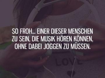Musik hören ohne joggen