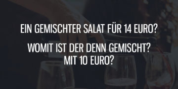Ein gemischter Salat für 14 Euro