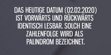 02.02.2020: Das erste palindromische Datum seit 900 Jahren